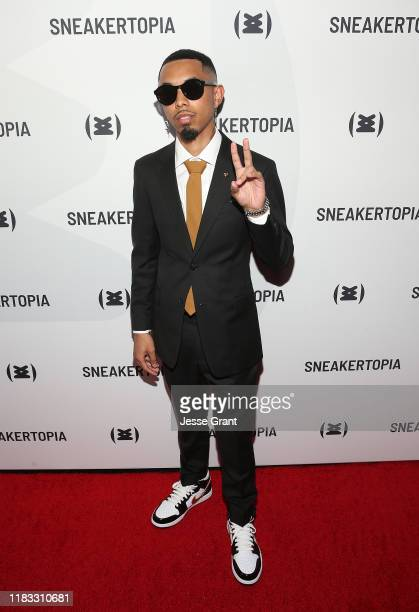 McFlyy attends the Sneakertopia Los Angeles VIP Preview at HHLA on October 24 2019 in Los Angeles California