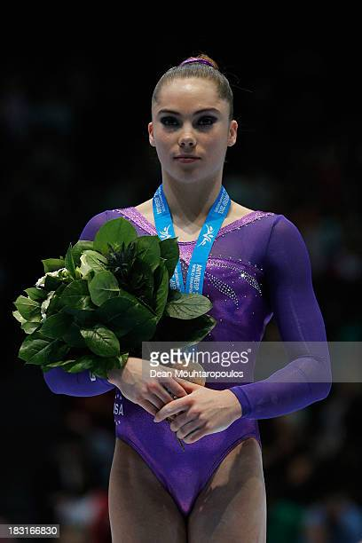 McKayla Maroney of USA poses after winning the Gold medal in the Vault Final on Day Six of the Artistic Gymnastics World Championships Belgium 2013...