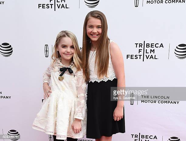 McKenna Grace and Natalie Coughlin attend Mr Church Premiere during 2016 Tribeca Film Festival on April 22 2016 in New York City