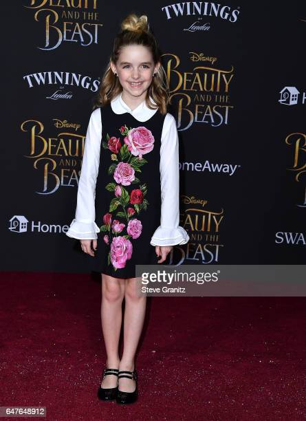 Mckenna Grace arrives a the Premiere Of Disney's Beauty And The Beast at El Capitan Theatre on March 2 2017 in Los Angeles California