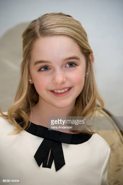 Mckenna Grace at the 'Gifted' Press Conference at the Four Seasons Hotel on March 31 2017 in Beverly Hills California