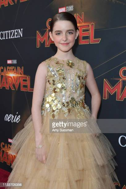 Mckenna Grace attends Marvel Studios Captain Marvel Premiere on March 04 2019 in Hollywood California