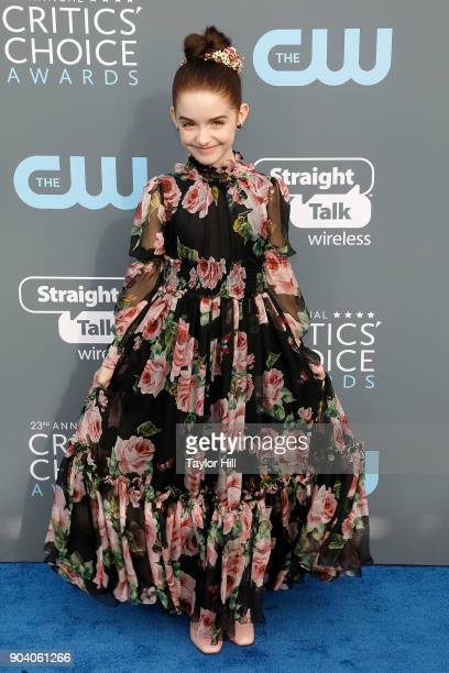 Mckenna Grace attends the 23rd Annual Critics' Choice Awards at Barker Hangar on January 11 2018 in Santa Monica California