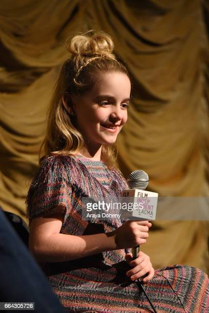 Mckenna Grace attends the Film Independent at LACMA special screening of Gifted at Bing Theatre At LACMA on April 3 2017 in Los Angeles California