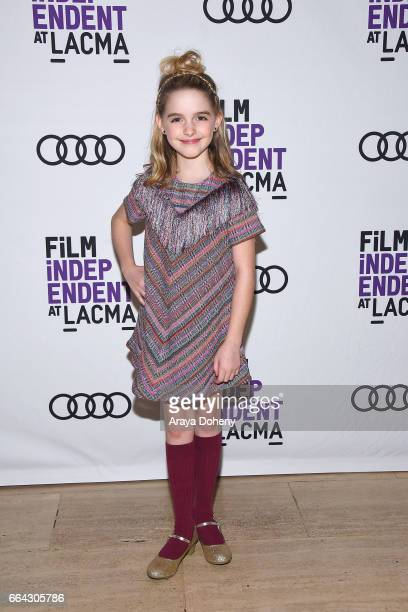 Mckenna Grace attends the Film Independent at LACMA special screening of 'Gifted' at Bing Theatre At LACMA on April 3 2017 in Los Angeles California