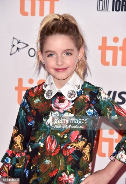 Mckenna Grace attends the I Tonya premiere during the 2017 Toronto International Film Festival at Princess of Wales Theatre on September 8 2017 in...