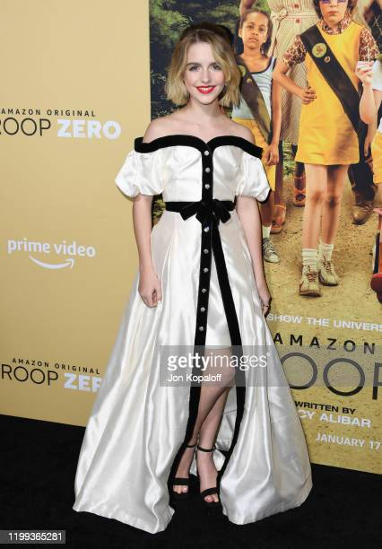 Mckenna Grace attends the premiere of Amazon Studios' Troop Zero at Pacific Theatres at The Grove on January 13 2020 in Los Angeles California