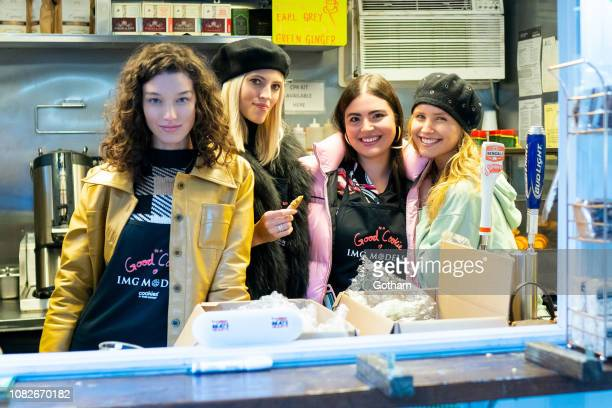 McKenna Hellam Devon Windsor Alessandra GarciaLorido and Sailor Lee BrinkleyCook attend Cookies for Kids' Cancer fundraiser in the Flatiron District...