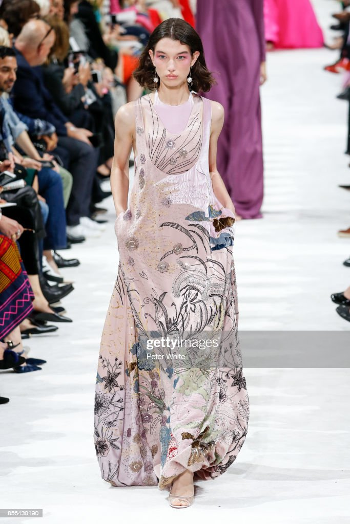 McKenna Hellam walks the runway during the Valentino show as part of the Paris Fashion Week Womenswear Spring/Summer 2018 on October 1, 2017 in Paris, France.