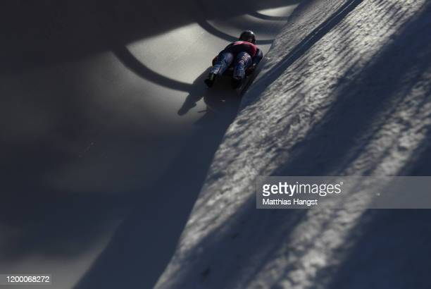 McKenna Malo of USA competes in Women's Singles Competition second run in luge during day 8 of the Lausanne 2020 Winter Youth Olympics at St. Moritz...