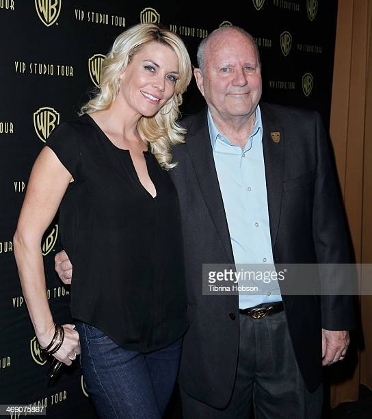 McKenzie Westmore and Michael Westmore attend the the 'Meet The Family' speaker series with Michael Westmore at Warner Bros Tour Center on February...