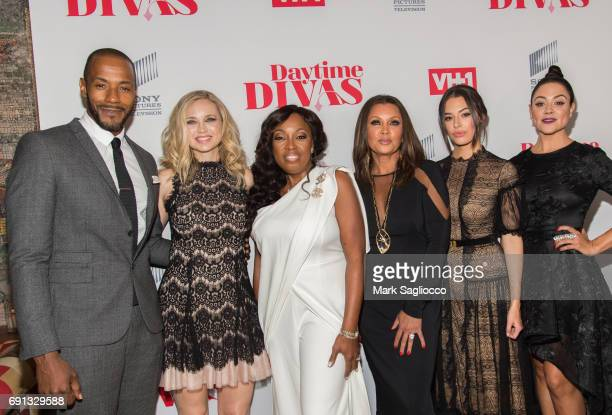 McKinley Freeman Fiona Gubelmann Star Jones Vanessa Williams Chloe Bridges and Camille Guaty attend the Daytime Diva's New York Screening at the...