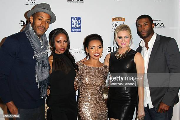 McKinley Freeman Taylour Paige Logan Browning Katherine Bailess and Robert Christopher Riley attend the VH1 Divas After Party To Benefit The VH1 Save...