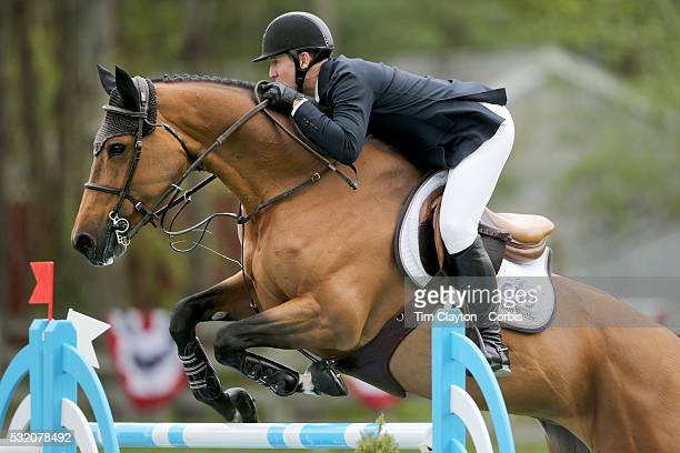 McLain Ward USA riding Tina La Boheme in action during The $50000 Old Salem Farm Grand Prix presented by The Kincade Group at the Old Salem Farm...