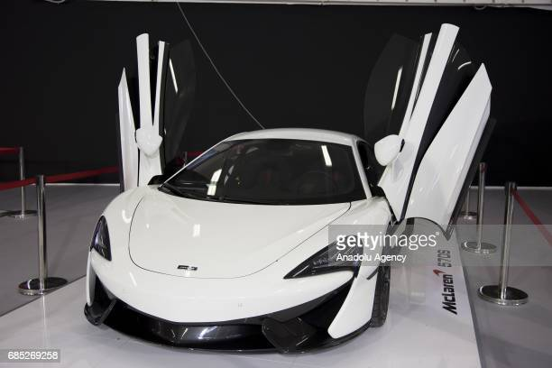 McLaren 570s is on display during the Naples Motor Show 2017 at Mostra d Oltremare in Naples Italy on May 19 2017