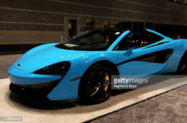McLaren 570S Spider is on display at the 111th Annual Chicago Auto Show at McCormick Place in Chicago, Illinois on February 7, 2019.