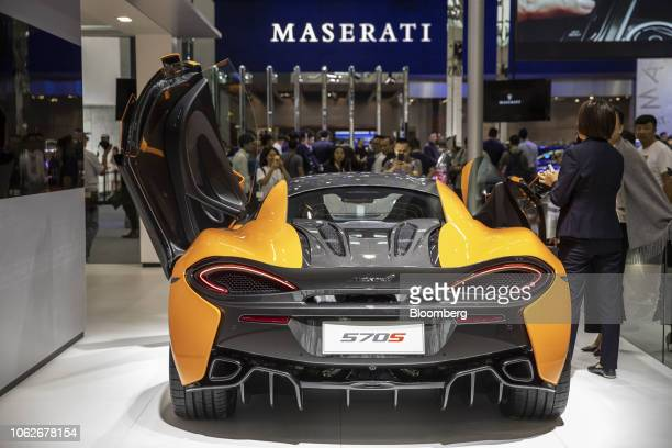 McLaren Automotive Ltd's 570S vehicle is displayed at the Guangzhou International Automobile Exhibition in Guangzhou China on Friday Nov 16 2018 More...