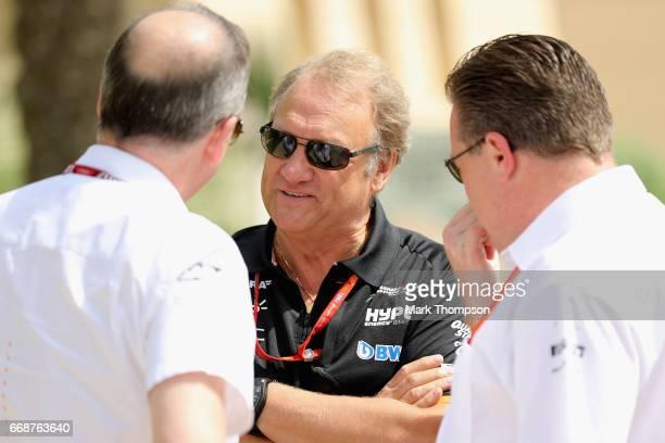 McLaren Executive Director Zak Brown Robert Fernley Deputy Team Principal of Force India and Jonathan Neale Chief Operating Officer of McLaren F1...