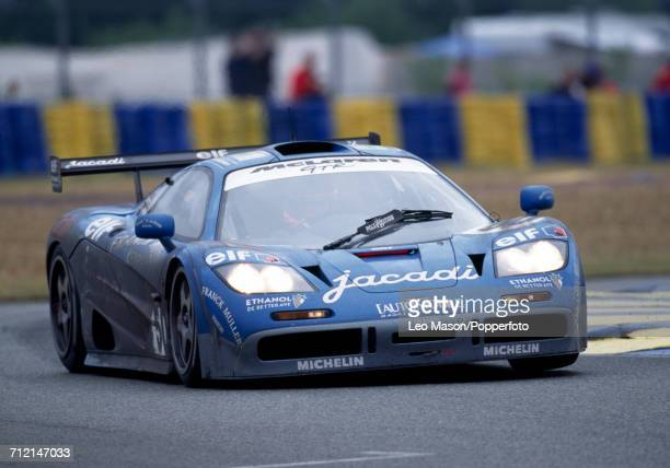 A McLaren F1 GTR driven to a fifth place finish by Olivier Grouillard and Fabien Giroix of France and JeanDenis Deletraz of Switzerland for the...