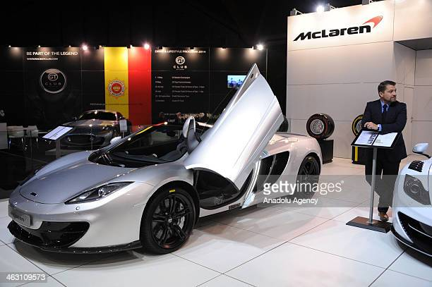 Mclaren is presented during 92nd Brussels Motor Show , from 16 to 26 January 2014, at Brussels Expo at the Heysel in Brussels, Belgium, January 16,...