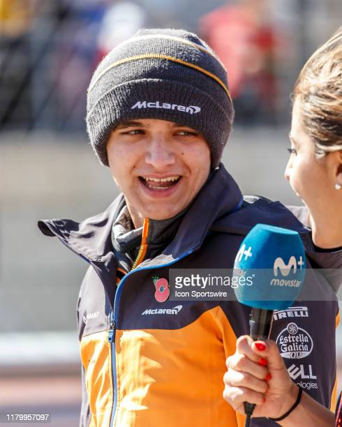 McLaren Renault driver Lando Norris of Great Britain on the grid prior to the F1 United States Grand Prix held November 3 at the Circuit of the...