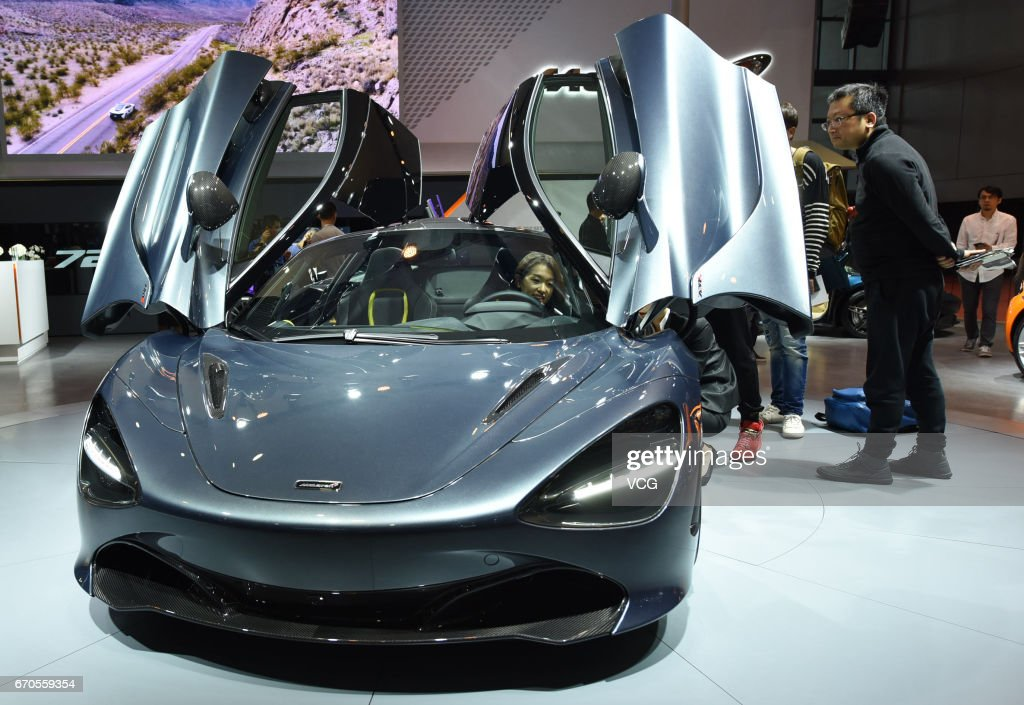 McLaren super car is exhibited at the booth of National Exhibition and Convention Center ahead of the 17th Shanghai International Automobile Industry Exhibition on April 20, 2017 in Shanghai, China. The 17th Shanghai International Automobile Industry Exhibition will be held at National Exhibition and Convention Center (Shanghai) from April 21 to April 28.