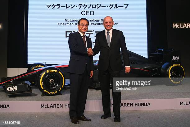 McLaren Technology Group Chairman and Chief Executive Officer Ron Dennis and Honda Motor Co.,Ltd. President, Chief Executive Officer and...