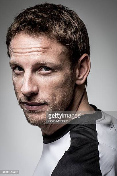 McLarenHonda driver Jenson Button poses for photographs in a portrait session at the Honda Motor Co headquarters on February 10 2015 in Tokyo Japan...