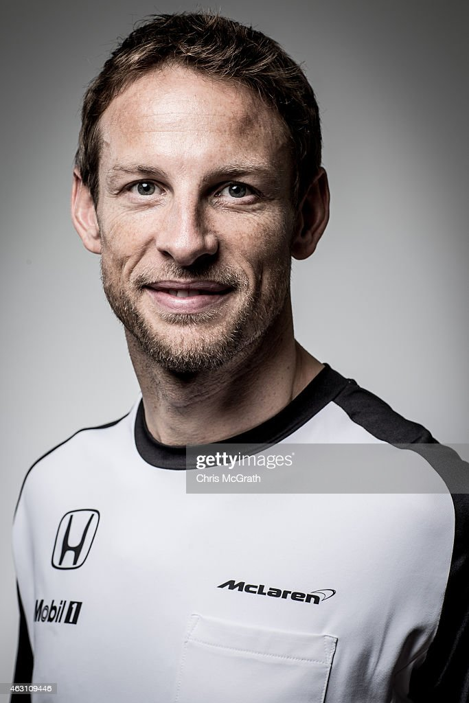 McLaren-Honda driver Jenson Button poses for photographs in a portrait session at the Honda Motor Co. headquarters on February 10, 2015 in Tokyo, Japan. Honda Motor Co., Ltd. held a press conference in the run-up to the Australian Grand Prix of the FIA Formula One World Championship (F1) happening in March 13-15, 2015. McLaren-Honda drivers Fernando Alonso and Jenson Button expressed their enthusiasm for the first race.