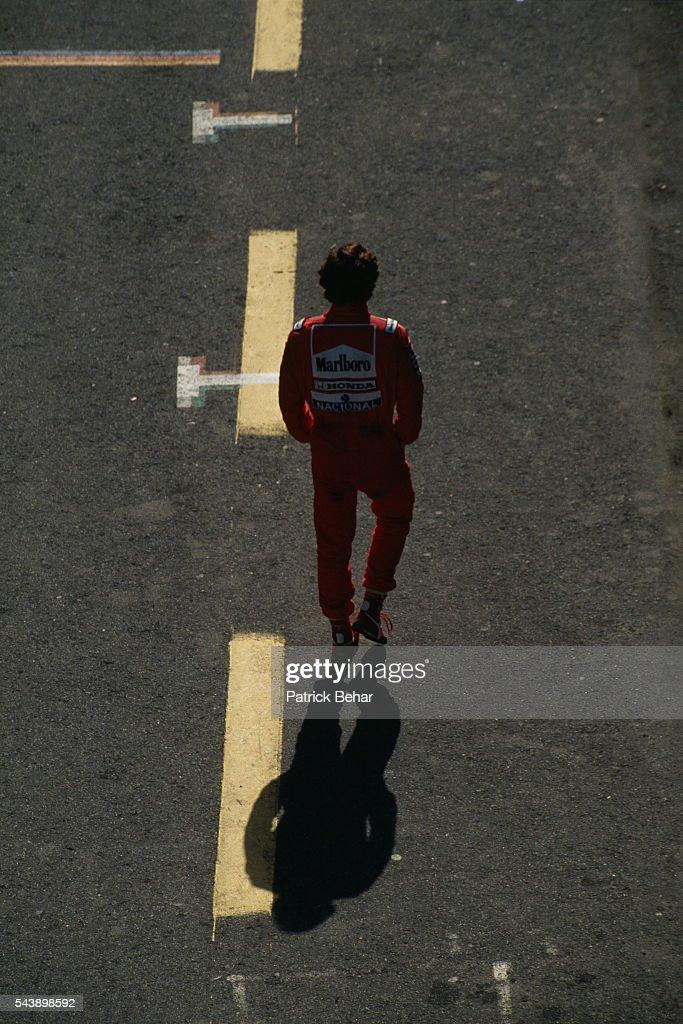 McLaren-Honda's driver Ayrton Senna.