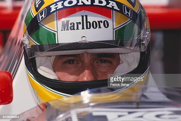 McLarenHonda's driver Ayrton Senna