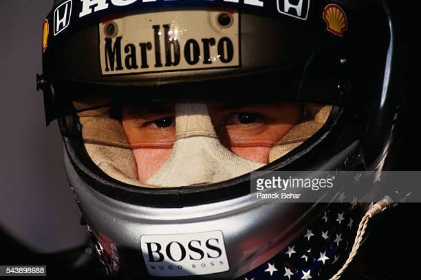McLarenHonda's driver Michael Andretti during a training session