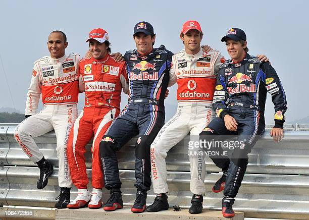 McLarenMercedes driver Lewis Hamilton of Britain Ferrari driver Fernando Alonso of Spain Red BullRenault driver Mark Webber of Australia...