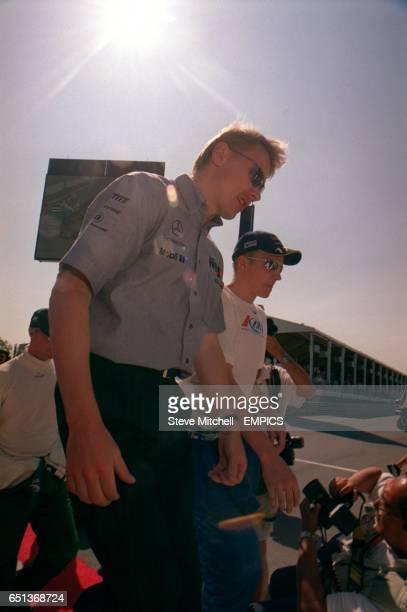 McLaren's Mika Hakkinen and Sauber's Kimi Raikkonen