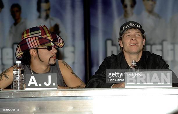 AJ McLean and Brian Littrell of the Backstreet Boys