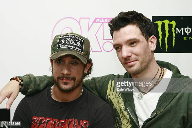 AJ McLean and JC Chasez during Shane West and Eric Podwall's Birthday Party June 25 2006 at Skybar in Hollywood California United States