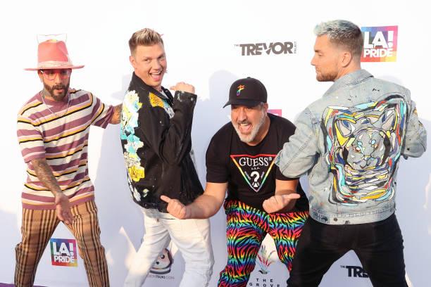 "CA: Members Of NSYNC And Backstreet Boys Host ""Bingo Under The Stars"" In Celebration Of Pride"