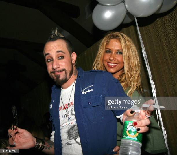 AJ McLean and Samantha Cole during AJ McLean of Backstreet Boys Birthday Party January 9 2007 at Marquee in New York City New York United States