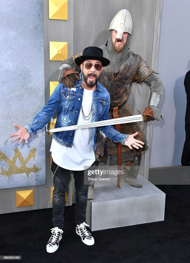 AJ McLean arrives at the Premiere Of Warner Bros. Pictures' 'King Arthur: Legend Of The Sword' at TCL Chinese Theatre on May 8, 2017 in Hollywood, California.