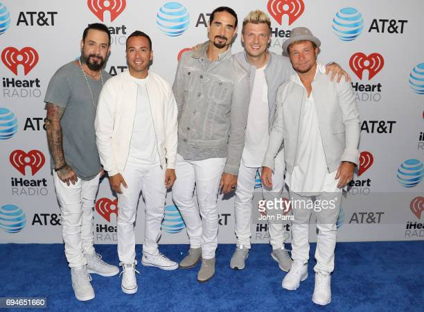 McLean Howie Dorough Kevin Richardson Nick Carter and Brian Littrell from the Back Street Boys attend iHeartSummer '17 Weekend by ATT at...