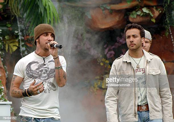 AJ McLean Howie Dorough of the Backstreet Boys perform during halftime of the NFL Pro Bowl at Aloha Stadium in Honolulu Hawaii on Sunday February 12...