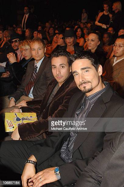 AJ McLean Nick Carter Brian Littrell Howie Dorough and Kevin Richardson of the Backstreet Boys presenters *EXCLUSIVE*