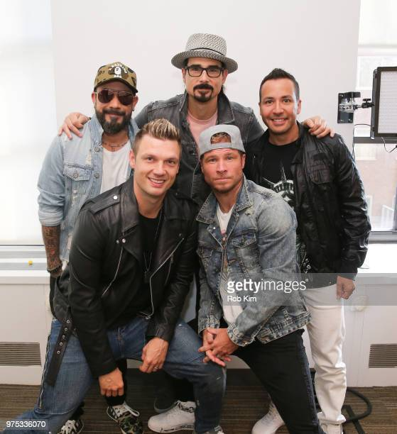 AJ McLean Nick Carter Kevin Richardson Brian Littrell and Howie Dorough of The Backstreet Boys visit The Elvis Duran Z100 Morning Show at Z100 Studio...