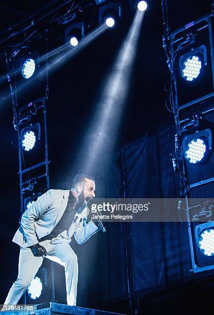 McLean of the Backsteet Boys performs at Nikon at Jones Beach Theater on August 13 2013 in Wantagh New York