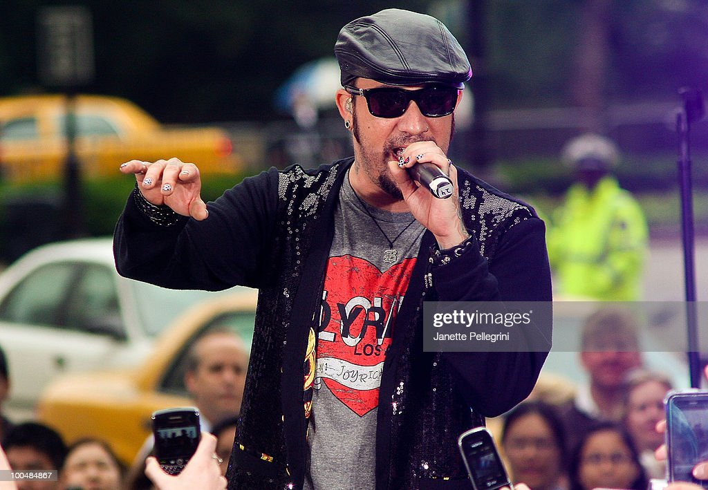 A. J. McLean of the Backstreet Boys peform on CBS' The Early Show Summer Concert Series at the CBS Early Show Studio Plaza on May 24, 2010 in New York City.