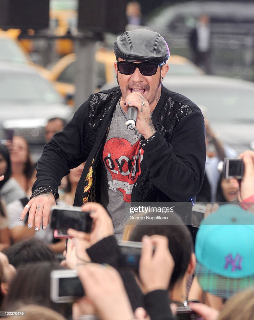 A. J. McLean of the Backstreet Boys performs on CBS' The Early Show Summer Concert Series at the CBS Early Show Studio Plaza on May 24, 2010 in New York City.