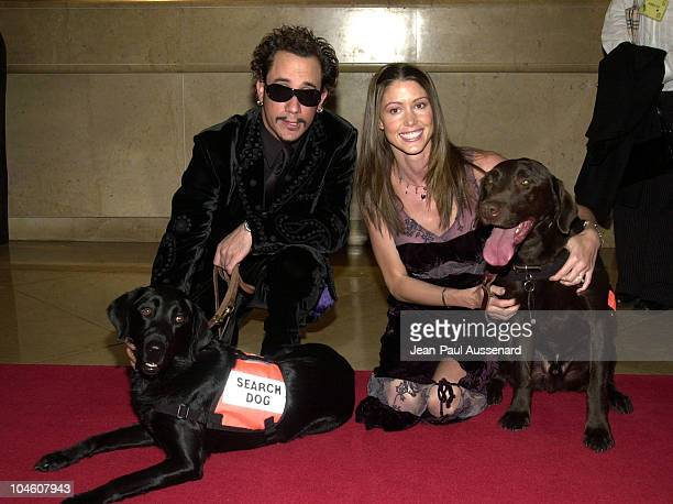 AJ McLean Shannon Elizabeth 9/11 search dogs during 16th Annual Genesis Awards at Beverly Hilton Hotel in Beverly Hills California United States