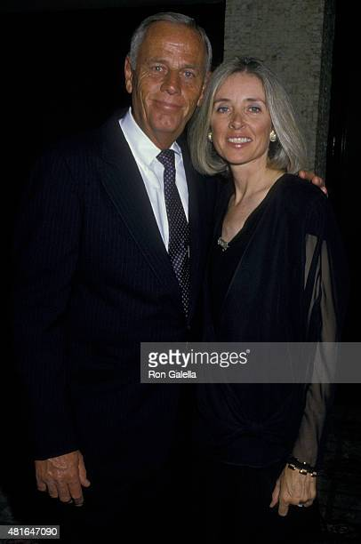 McLean Stevenson and Ginny Fosdick attend CBS TV Affiliates Party on June 14 1988 at the Century Plaza Hotel in Century City California