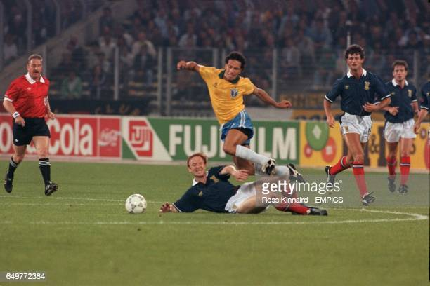 S ALEX McLEISH SLIDES IN ON CARECA OF BRAZIL