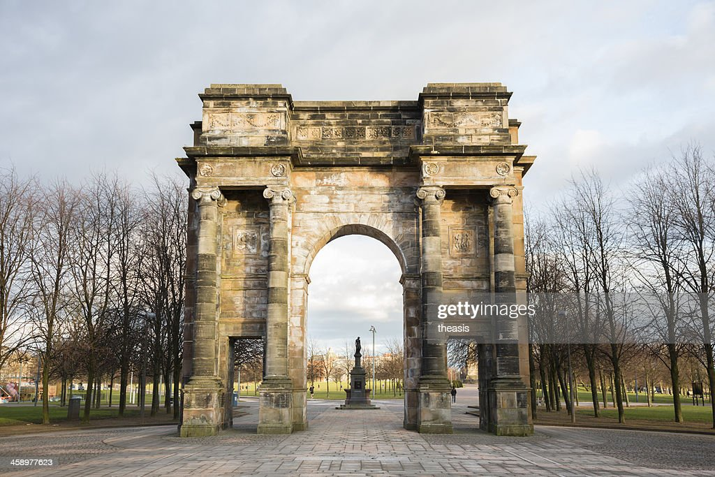McLennan Arch on Glasgow Green : Stock Photo